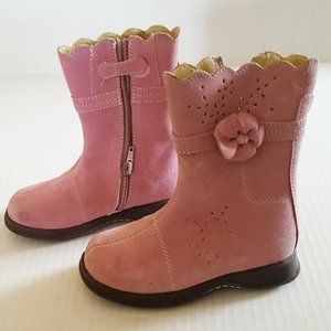 CHEROKEE Toddler Boot Pink 9.5 Jolie Leather Suede